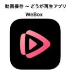 WeBoxアプリの使い方・iPhoneで動画のダウンロード保存・バックグラウンド再生